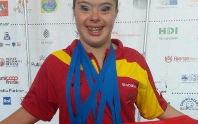 La gimnasta española Sara Marín, un claro ejemplo de constancia y superación.