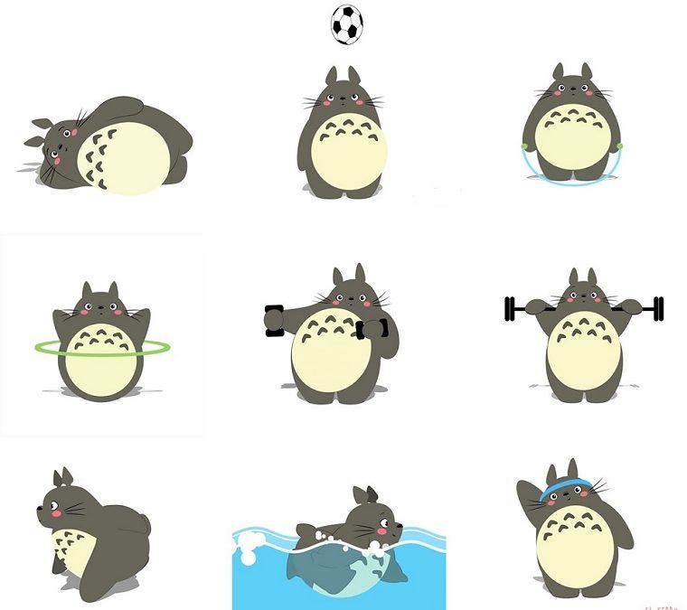 ¿Te animas con estas rutinas? Los GIFs de Totoro nos da las claves
