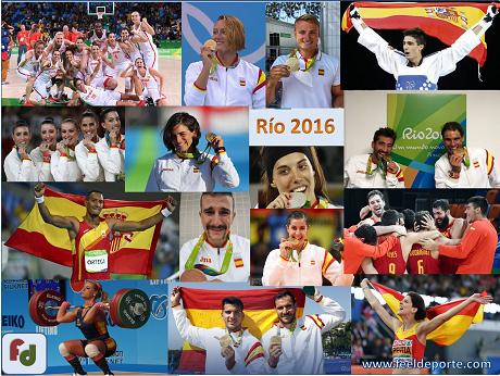 Las 17 medallas ganadas en Río 2016 por los deportistas españoles