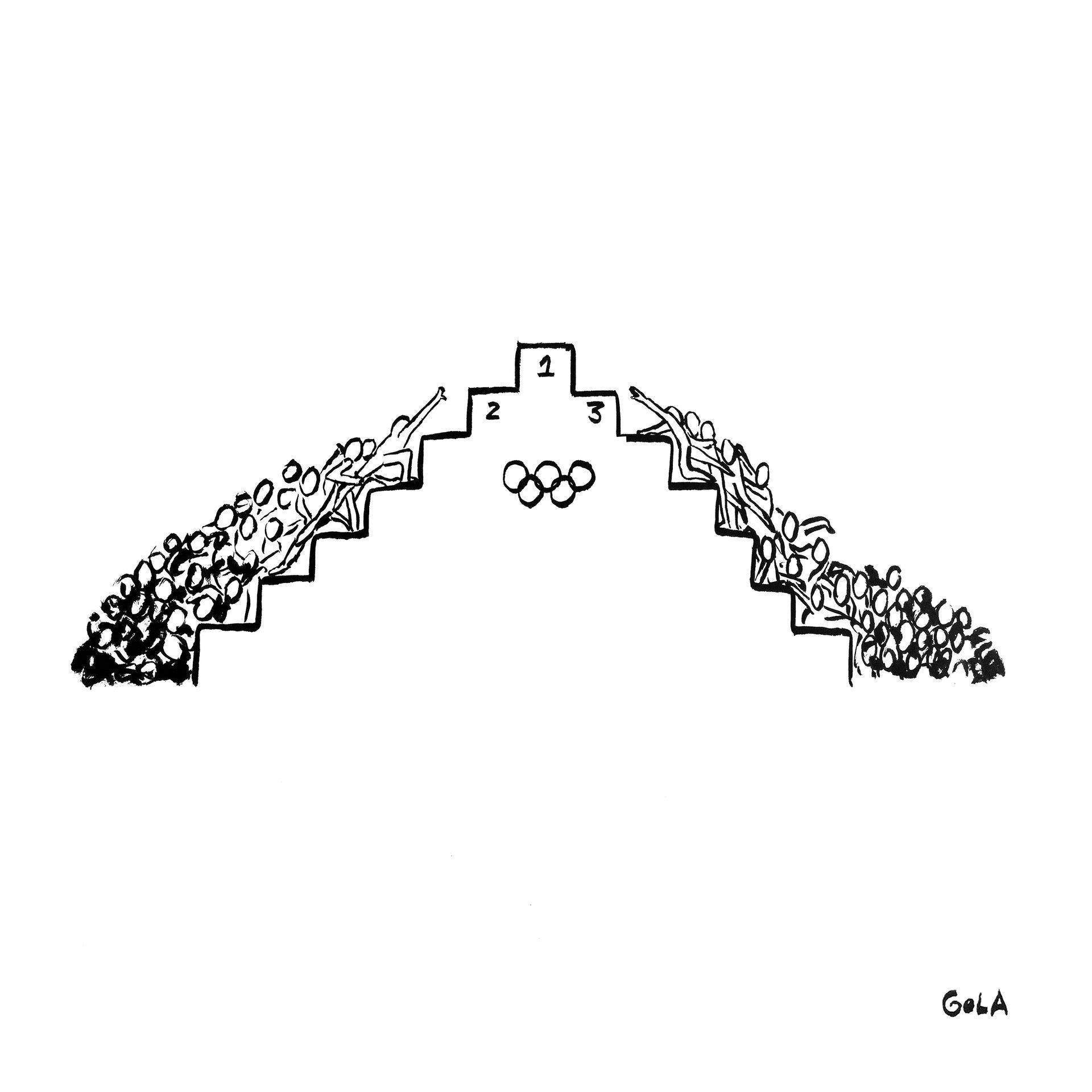 JJOO. Sólo unos pocos_Los Juegos Olímpicos visto por el artista brasileño André Gola FeelCurioso