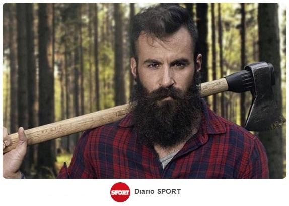 El futbolista gerundense Marc Crosas y su mediática barba