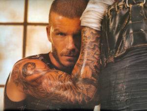 David Beckham Los tatuajes de los deportistas más sexis