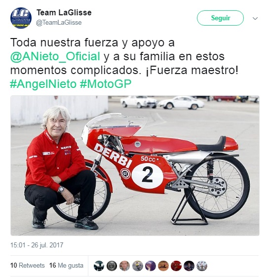 Twitter reacciona tras el trágico accidente de Ángel Nieto ¡Te pondrá la piel de gallina!