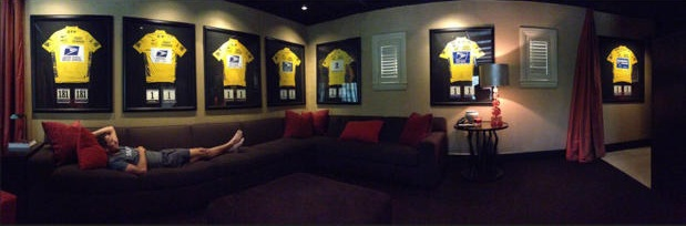 Lance Armstrong con sus maillot amarillos. Dopaje Sanguíneo, lance armstrong legends of the tour