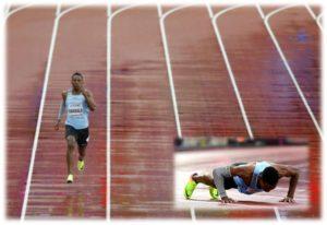 El atleta Isaac Makwala corrió solo a pesar del escándalo por impedirle correr en la serie de 200 metros, Mundial de atletismo gastroenteritis isaac makwala 400 metres isaac makwala 400m isaac makwala all athletics isaac makwala training, Wayde van Niekerk