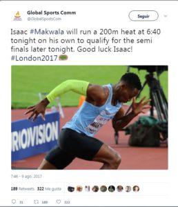 El atleta Isaac Makwala corrió solo a pesar del escándalo por impedirle correr en la serie de 200 metros, Mundial de atletismo gastroenteritis isaac makwala 400 metres isaac makwala 400m isaac makwala all athletics isaac makwala training