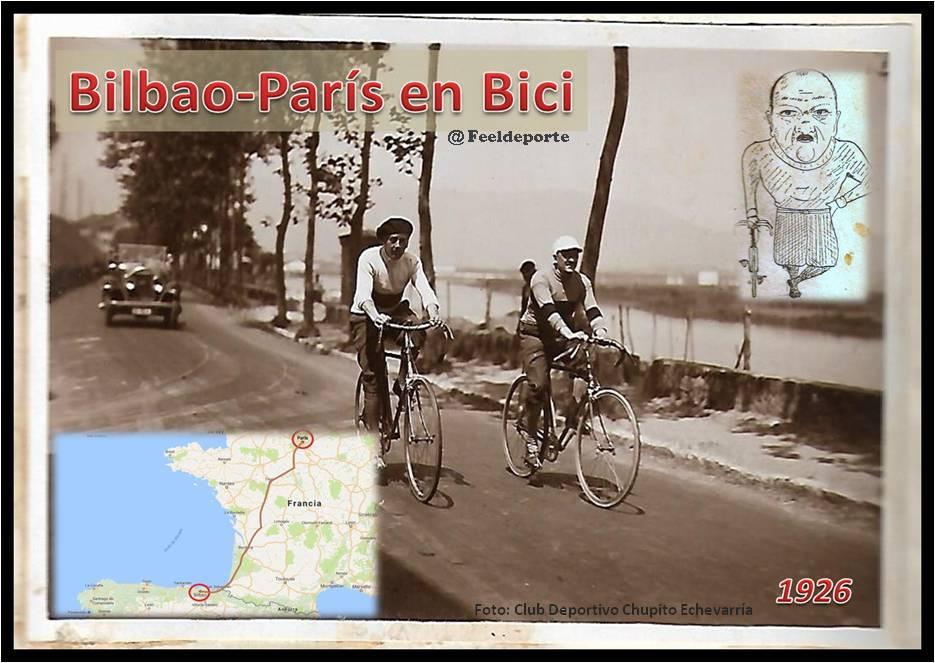 """La Ruta Bilbao-París en bicicleta: """"Chupito"""" Echevarría y Amézola los valientes protegonistas"""