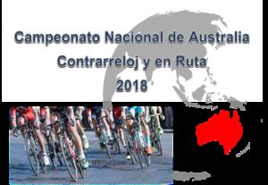 Campeonato Nacional de Australia Contrarreloj y en Ruta 2018, Resultados de Ciclismo en Feeldeporte, campeonato australia ciclismo